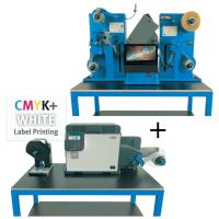 DTM LF140e + OKI Pro1050 Bundle besteht aus Oki 1050 Pro Farbetikettendrucker auf Dry Toner Basis und LF140e Finisher mit 11.6'' touch screen PC, Finishing Soft