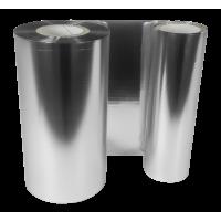 Silber Folie,  glänzend metallisch für Primera FX400e/FX500e & DTM FX510e/ FX810e , 110mm breit x 200m lang