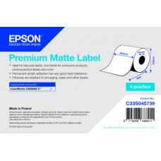 Epson Etikettenrolle, Normalpapier, Premium matt beschichtet, passt für: Epson ColorWorks CW-C6500, Rollenbreite: 203mm, Länge: 60m
