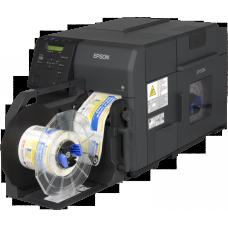 Epson ColorWorks C7500, High-End Farbetikettendrucker für matte Etiketten mit Cutter USB & Netzwerkanschluss, NiceLabel Software