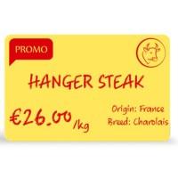 Evolis Plastikkarte, 100 Stk., gelb für hygienische Preisschilder aus Plastik