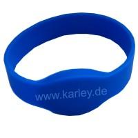 RFID Wristband Silikon mit ovalem Kopf mit MIFARE® 13,56Mhz-Chip in blau