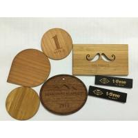 RFID Wood Card / Holzkarte oder Chip, verschiedenes Holz inkl. Lasergravur, mit Wunschchip