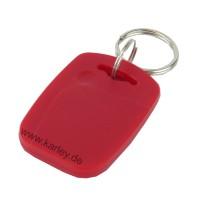 RFID Schlüsselanhänger/Keyfob BASIC mit MIFARE® S50 / 1K Classic Chip, rot