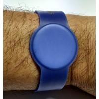 RFID Armband Uhrendesign PVC, verstellbar, blau mit NXP iCODE SL2 Original Chipset 64bit UID