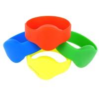 RFID Silikon Armband (Wristband) mit rundem Kopf, versch. Farben und Wunschchip