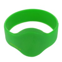 RFID Silikon Armband (Wristband) mit Alien H3 Chip, grün 55mm