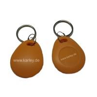 RFID Schlüsselanhänger/Keyfob orange bauchig mit dem MIFARE® NXP S50 Chip / 1K Classic