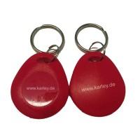 RFID Schlüsselanhänger/Keyfob rot bauchig mit dem MIFARE® NXP S50 Chip / 1K Classic