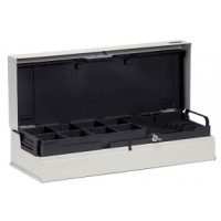 Hochwertige Klappdeckel-Kassenlade aus Stahl: Anker UCC, Kit, Kassenlade in hellgrau
