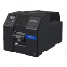 Farbetikettendrucker Epson ColorWorks CW‑,C6500Pe, Peeler, Display, USB, Ethernet, schwarz, Druckbreite max. 212mm
