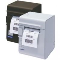 Etiketten- und Bondrucker Epson TM-L90, USB, RS232, schwarz