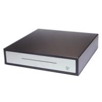 Robuste und hochwertige Kunststoff-Lade Manuelle Kassenschublade für Stand-Alone Einsatzbereiche Glancetron 8045, schwarz, Edelstahl