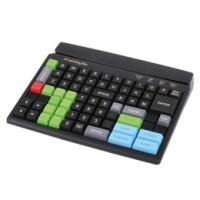 Frei programmierbare Kassentastatur mit Magnetkartenleser PrehKeyTec MCI 84, Num., MKL, USB, schwarz