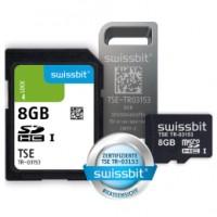 Swissbit TSE, reduzierte Laufzeit von 54 Monaten, SD-Karte, 8 GB, lose verpackt