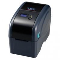 Platzsparender Thermotransfer-Drucker TSC TTP-225, 8 Punkte/mm (203dpi), Disp., TSPL-EZ, USB, Ethernet, beige