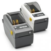 Platzsparender schmaler Thermodirekt Etikettendrucker Zebra ZD410, 8 Punkte/mm (203dpi), VS, RTC, EPLII, ZPLII, USB, dunkelgrau