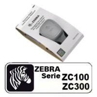 Zebra Farbband, Blau, 1500 Bilder, passend für: ZC100, ZC300