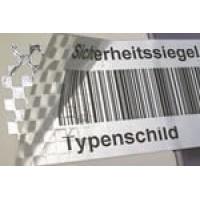 Sicherheits-Rollenetiketten, Format 40 x 20 mm für Thermotransfer Drucker - Checkerboard-Sicherheitsetiketten, delaminierend mit Schachbrettmuster