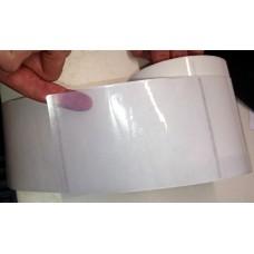 76x51mm (BxH) 1000 Etiketten auf Rolle, (3x2'') durchsichtiges Polyester ECO Kern: 50mm (2'') AD: 12,7cm (5'') für Primera LX400e, LX500e