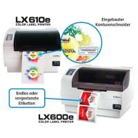 Primera LX610e Pro kompakter Farb-Etikettendrucker Bundle mit Cutter und 30 Minuten Online Schulung, 3 Jahre Garantie*