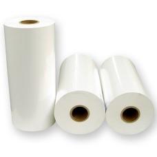 76x35mm (BxH) 1575 Etiketten auf Rolle, (3x1.5'') Polyester weiß matt ECO Kern: 76mm (3'') AD: 15,2cm (6'')