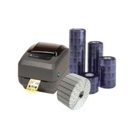 Schmucketiketten-Set: Zebra GK420t Etikettendrucker, Schmucketiketten und Farbbänder