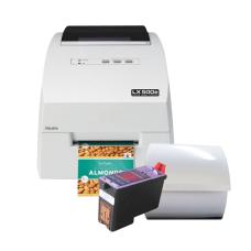 Inventar-Set 2: (farbiger Druck) - Inkjet Etikettendrucker LX500 mit passenden Etiketten und einer Patrone
