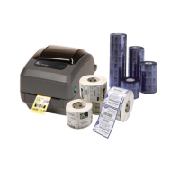 Zebra GK420T Thermoetikettendrucker inkl. 2.580 silberner Geräte- oder Typenschilder in 51x25mm