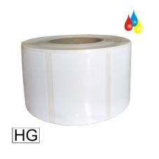 51x25mm (BxH) 2250 Etiketten auf Rolle, (2x1'') Polyester weiß glänzend Kern: 76mm (3'') AD: 15,2cm (6'') für Primera LX810e, LX900e, LX910e, LX1000e, LX2000e